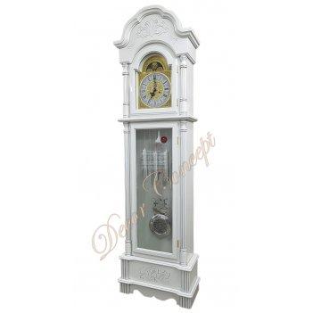 Часы напольные columbus cr-9222-ps «снежный лорд» silver