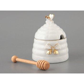 Банка для мёда venezia с деревянной палочкой, высота=12 см (кор=24шт.)