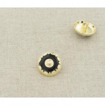 Пуговица металлическая, размер 18 мм
