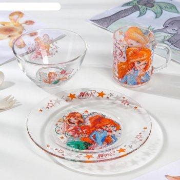 Набор посуды nd play winx club. феи, 3 предмета