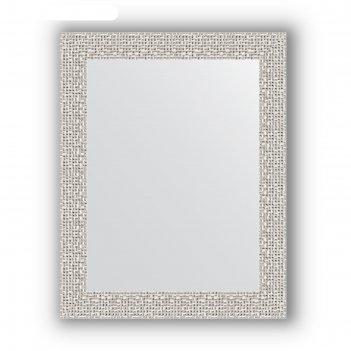 Зеркало в багетной раме - мозаика х ром 46 мм, 38 х 48 см, evoform