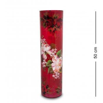 Vz-525 ваза стеклянная жостово h-500 (цилиндр)