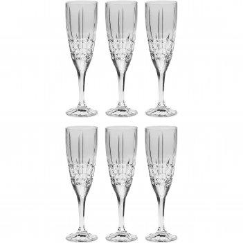 Набор из 6 бокалов для шампанского dover, 180 мл