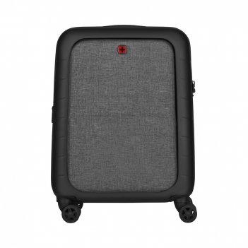 Чемодан wenger syntry, черный/серый, абс-пластик/поликарбонат, 40x27x55 см
