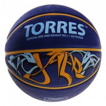 Мяч баскетбольный torres jam, b00043, размер 3