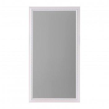 Зеркало настенное «медальон», белое, 60x110 cм