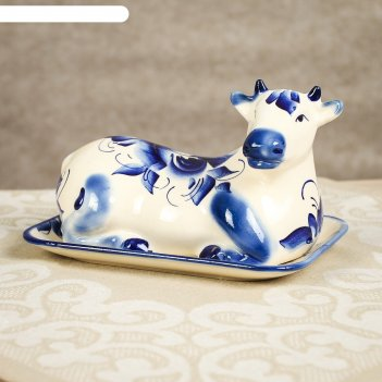 Маслёнка корова гжель