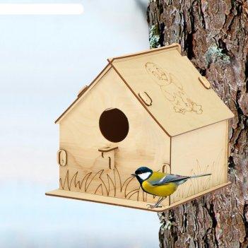 Кормушка для птиц «птенчик», 19.5 x 22 x 22 см, greengo
