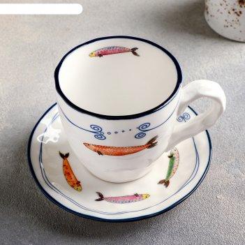 Чайная пара 150 мл емеля, блюдце 12,5 см
