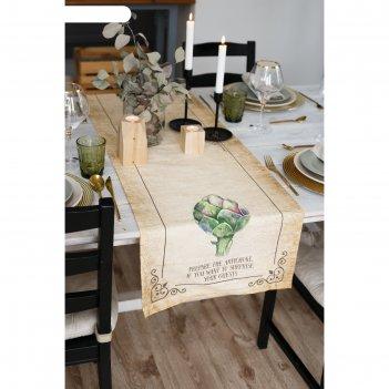 Дорожка на стол carciofo 40*146 см, 100% хл, саржа 190гр/м2