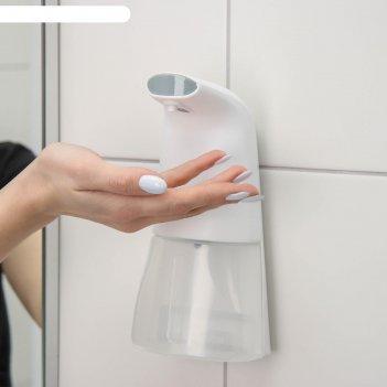Диспенсер для пенного мыла, 300 мл, сенсорный на батарейках, цвет белый