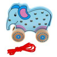 Каталка-шнуровка слоненок