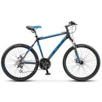 Велосипед 26 stels navigator-650 md, v030, цвет чёрный/синий, размер 16
