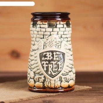 Кружка для пива 0,7 л орёл, слоновая кость