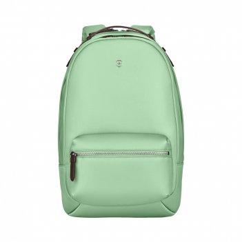 Рюкзак victorinox victoria classic business backpack, мятный, нейлон/кожа/