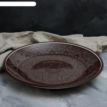 Ляган 41 см коричневый