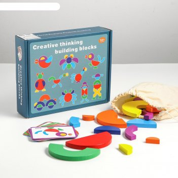 Детский развивающий набор делаю фигуры по цветам 24,5х5,5х19 см