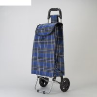 Сумка хозяйственная на колёсах «клетка», отдел на шнурке, нагрузка до 15 к