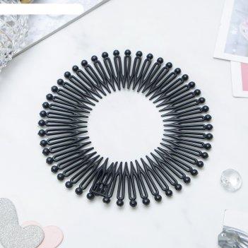 Гребень-ободок для волос классика чёрный