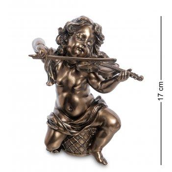 Ws-975 статуэтка херувим со скрипкой