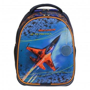 Рюкзак каркасный luris 38*28*18 джерри 4 3d для мальчика «самолет»