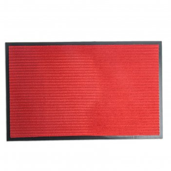 Коврик влаговпитывающий, ребристый стандарт 60 х 90 см, красный