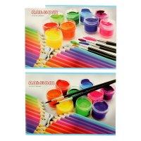 Альбом д/рис а4 16л карандаши и краски, микс а4ск16 2030
