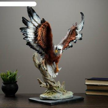 Фигура орел летящий темно-коричневый 54х46 см