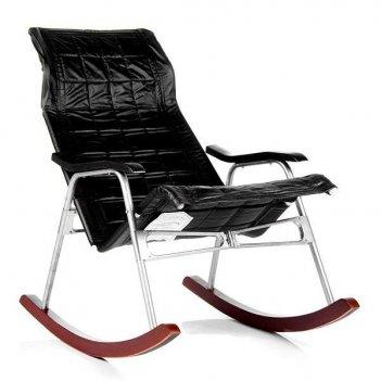 Кресло-качалка складная белтех, к/з черный