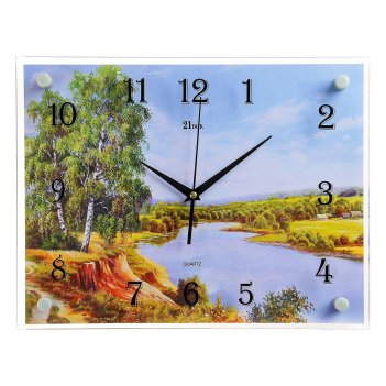 Часы настенные, серия: природа, река и природа, 30х40  см, микс