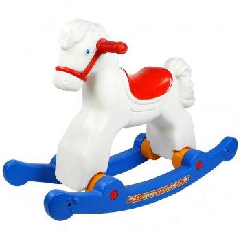 Ор146 качалка лошадка белая