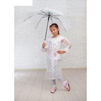 Зонт детский кружева, полуавтоматический, r=45,5см, цвет белый