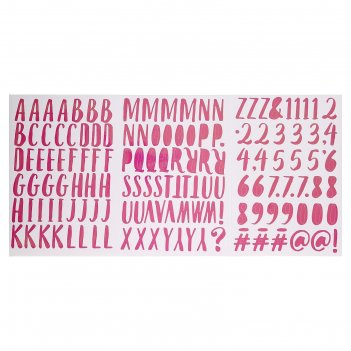 Стикеры-алфавит sticko magenta 149 шт