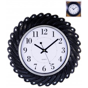 Часы настенные круглые home art «черные перья» 43 см