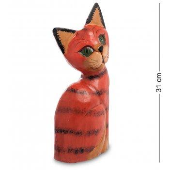 28-043 статуэтка кошка рыжая 30 см