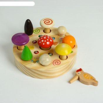 Развивающая игра рыбалка + грибы на магнитах 16х16х6 см