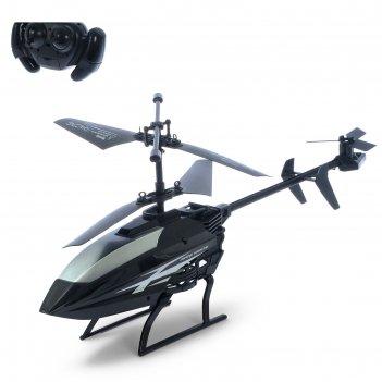 Вертолет радиоуправляемый эксперт, работает от батареек, микс