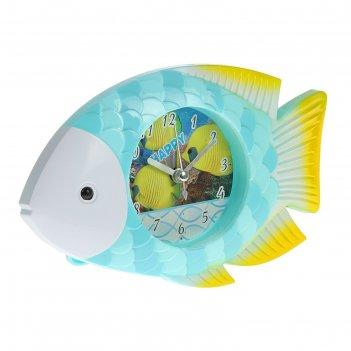 Будильник. серия животный мир. рыбка, микс 11*18см