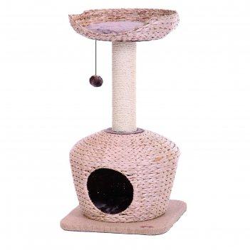 Когтеточка nobby citali   для кошек, светло-коричневая, 40 х 40 х 75 см