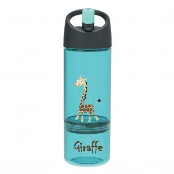 Детская бутылка 2в1 carl oscar giraffe бирюзовая