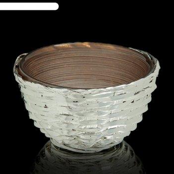 Чаша плетение, коричневая