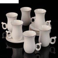 Сервиз кофейный 12 пред. гюлер: 6 чашек 110 мл, 6 блюдец