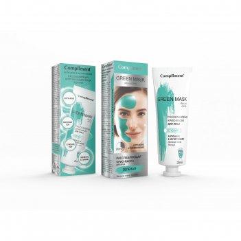 Крио-маска для лица compliment «анти-акне и матирование», расслабляющая, з