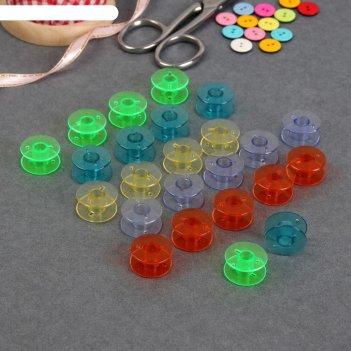 Набор шпулек, d = 2 см, 24 шт, цвет микс