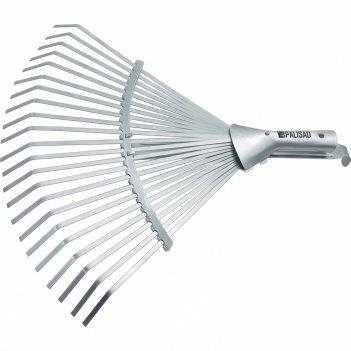 Грабли веерные стальные, 300 - 480 мм, 22 плоских зуба, оцинкованные,раздв