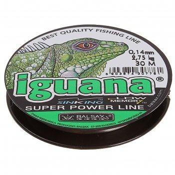 Леска зимняя balsax iguana, 0,14 мм, 30 м
