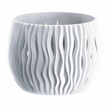 Кашпо для цветов prosperplast sandy bowl basic 1,4л, белый