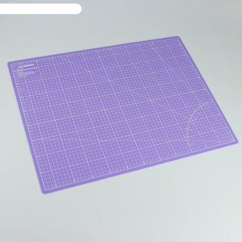 Мат для резки, двусторонний, 60 x 45 см, а2, цвет фиолетовый, au-a2violet