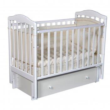 Кроватка детская helen 3, автостенка, универсальный маятник, закрытый ящик