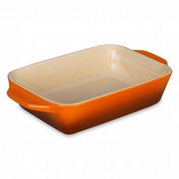 Форма для запекания, размер: 18 х 16 см, материал: керамика, цвет: оранжев